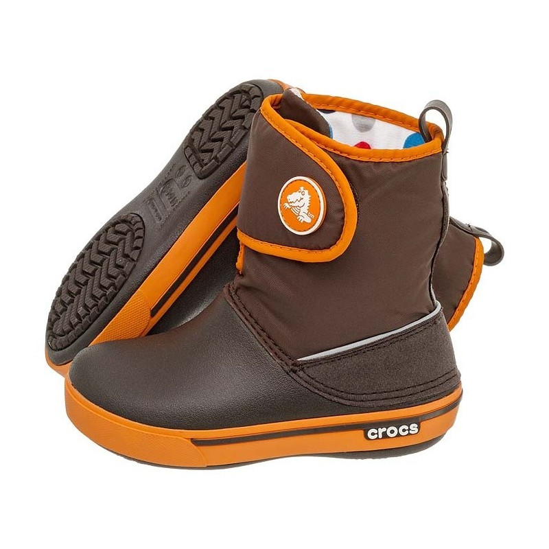 Crocs Crocband II.5 Gust Boot Kids Espresso-Orange 12905 (CR43-b) avalynė