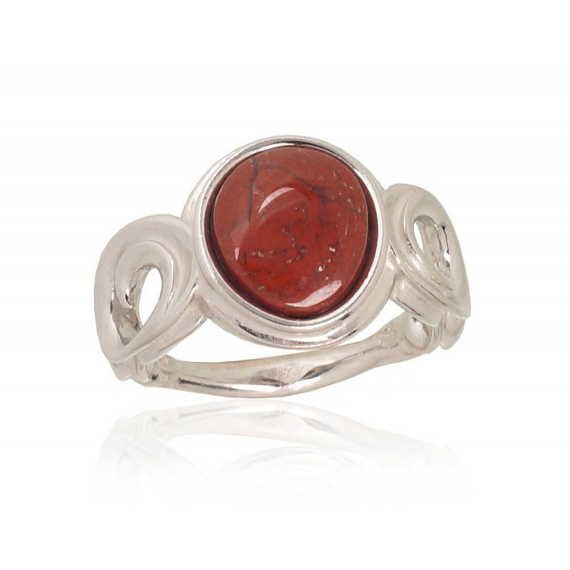 Sidabrinis žiedas 2101729(PRh-Gr)_JA-BR, Sidabras925°, rodis (padengti), Jaspis