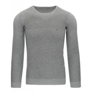 Megztinis (Sweter męski szary WX0800 - Drabuziai rubai internetu