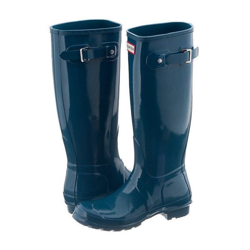Hunter Womens Original Tall Gloss Dusty Petrol WFT1000RGL (HU17-b) bateliai