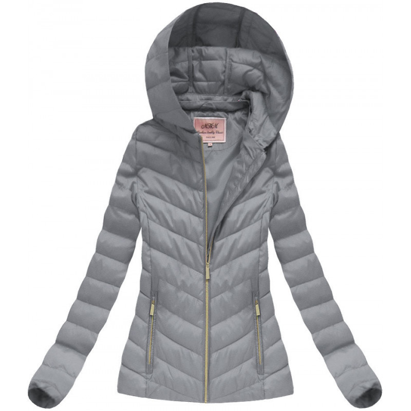 HOODED JACKET GREY (W70) striukė
