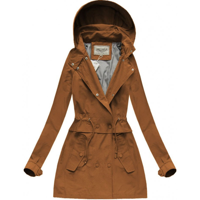 HOODED PARKA BROWN (XW725X) striukė