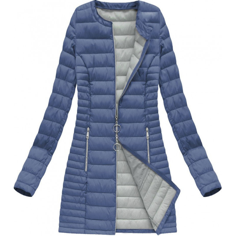 LONG QUILTED JACKET BLUE (21819) striukė