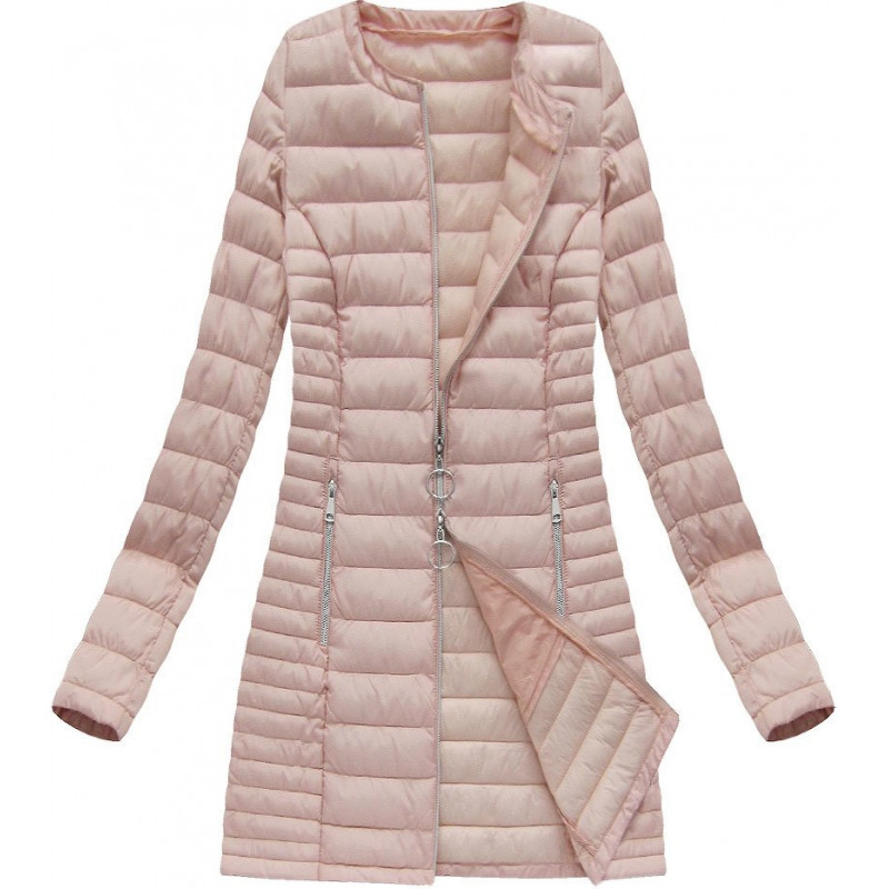 LONG QUILTED JACKET SALMON (21819) striukė