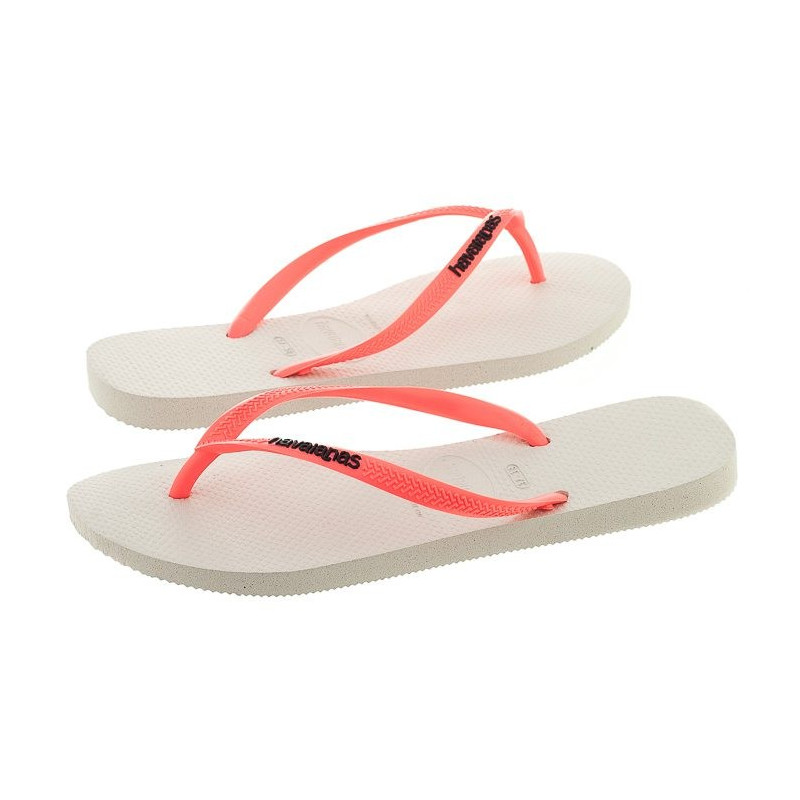 Havaianas Slim Logo Pop-UP White/Coral 4119787-2641 (HI16-a) šlepetės