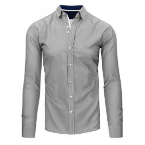 Marškiniai (Biało-czarna koszula męska w paski DX1495 - Drabuziai rubai internetu