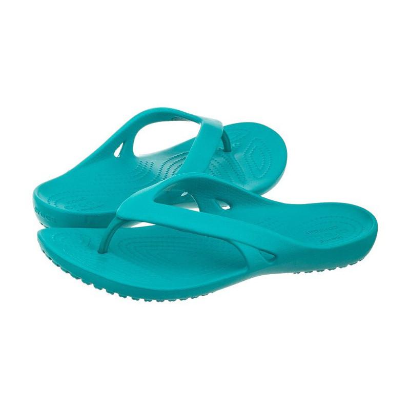 Crocs Kadee II Flip W Turquoise 202492-440 (CR119-c) šlepetės