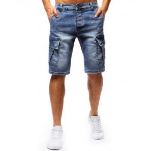 Šortai (Spodenki męskie jeansowe niebieskie SX0675 - Drabuziai rubai internetu