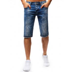 Šortai (Spodenki męskie jeansowe niebieskie SX0681 - Drabuziai rubai internetu