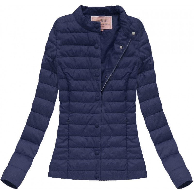 QUILTED JACKET NAVY BLUE (W56) striukė