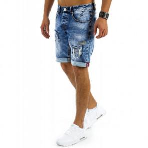 Šortai (Spodenki jeansowe męskie niebieskie SX0346 - Drabuziai rubai internetu