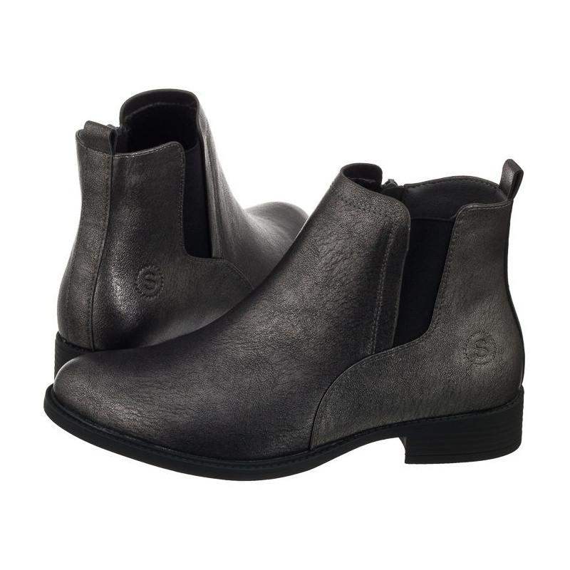 Sergio Leone Srebrne PU BT553 (SL239-b) batai