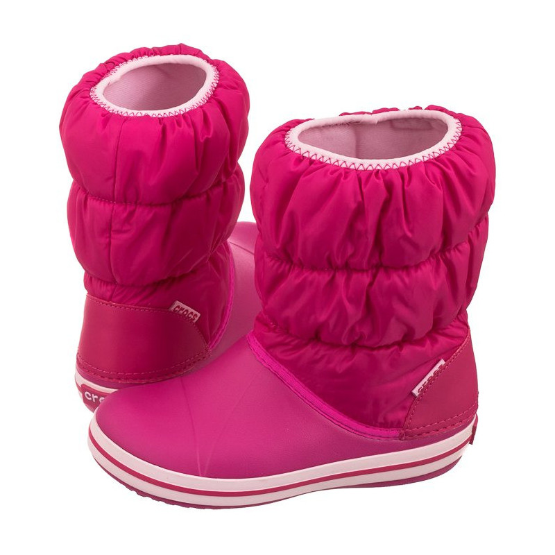 Crocs Winter Puff Boot Kids Candy Pink 14613-6X0 (CR61-d) avalynė