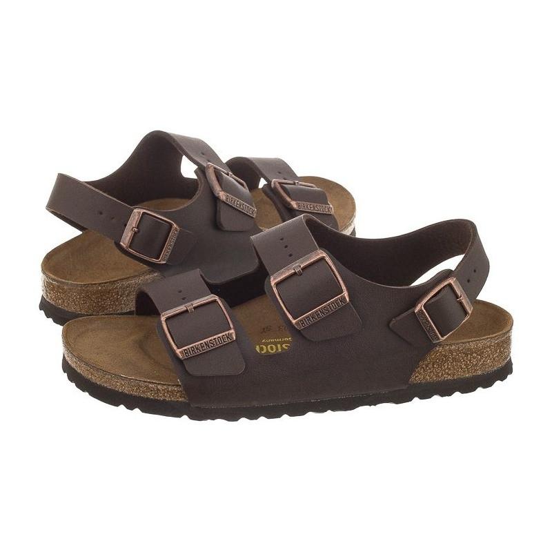 Birkenstock Milano Brązowe 034703 (BK10-d) sandalai