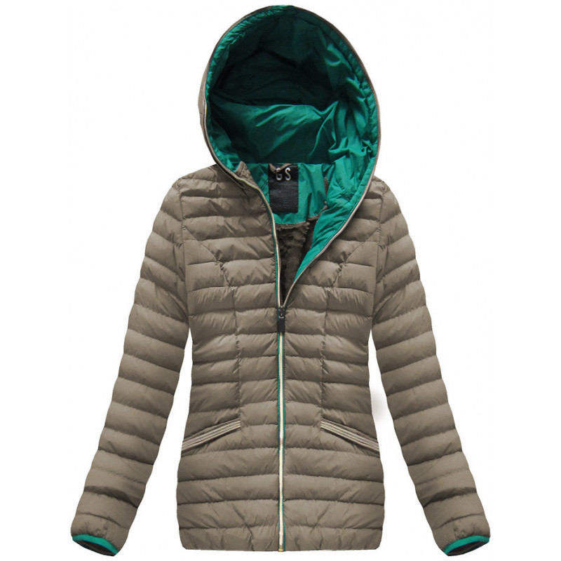 WARM HOODED JACKET COCOA (CX583W) striukė