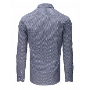 Marškiniai (Koszula męska elegancka ciemnogranatowa DX1669 - Drabuziai rubai internetu