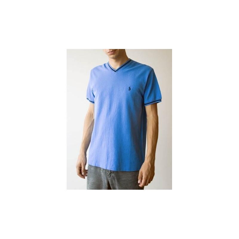 Ralph Lauren vyriški mėlyni marškinėliai