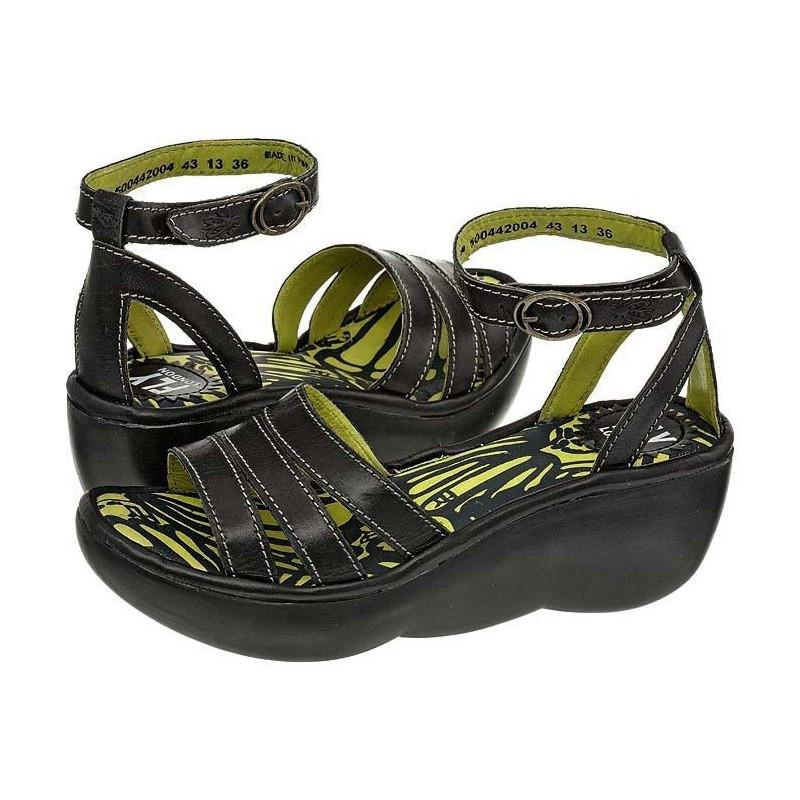 FLY London Bez Black P500442004 (FL125-a) sandalai