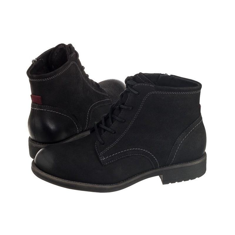 Tamaris Czarne 1-26235-27 008 Black Nubuc (TM56-a) batai