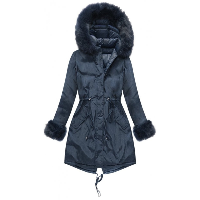 REVERSIBLE HOODED JACKET NAVY BLUE (PM7210-61) striukė