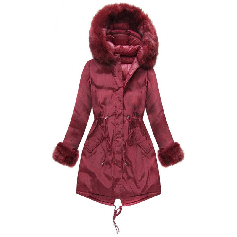 REVERSIBLE HOODED JACKET WINE (PM7210-61) striukė