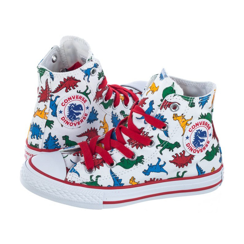 Converse CT All Star HI White/Enamel Red 663636C (CO371-a) avalynė
