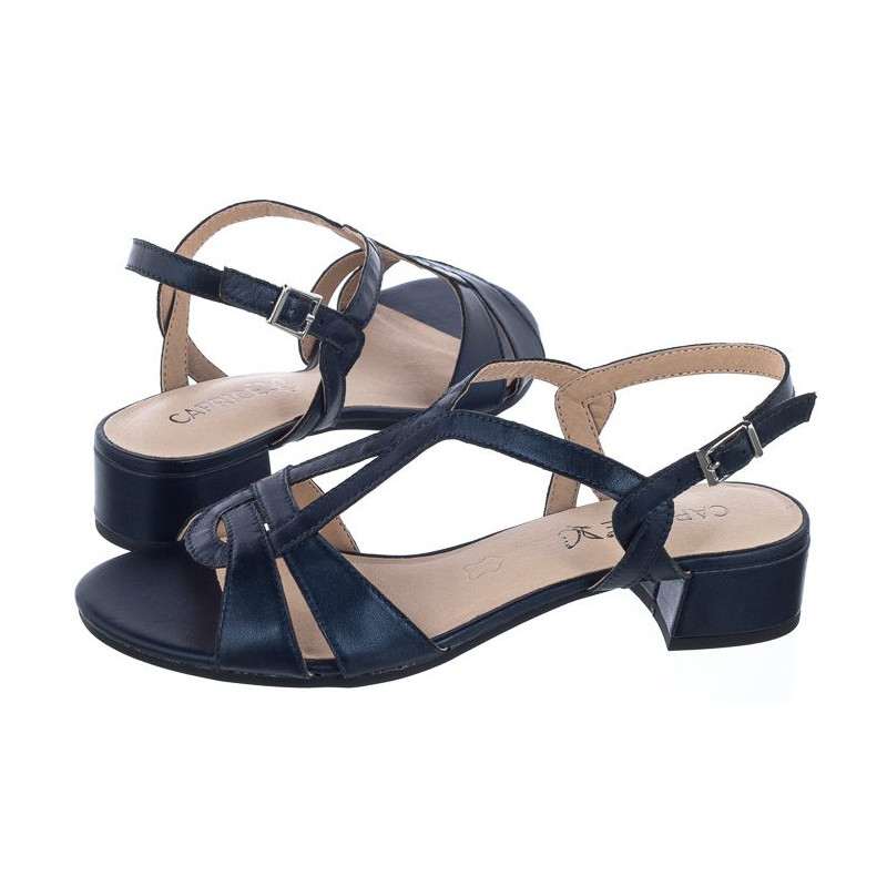 Caprice Granatowe 9-28201-22 807 Navy Perlato (CP139-b) sandalai