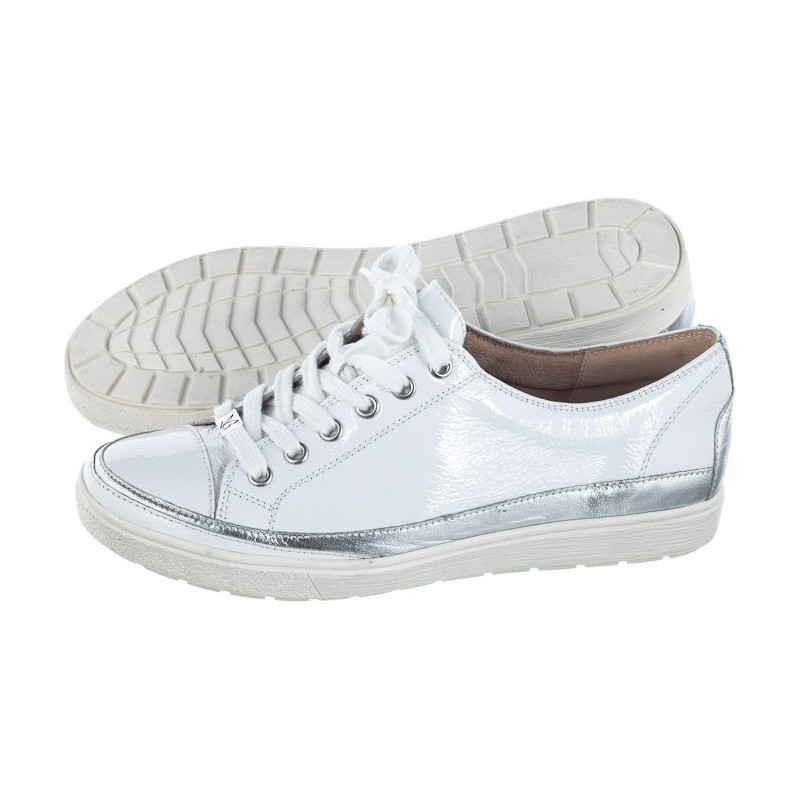 Caprice Białe 9-23654-22 122 White Naplak (CP146-a) bateliai
