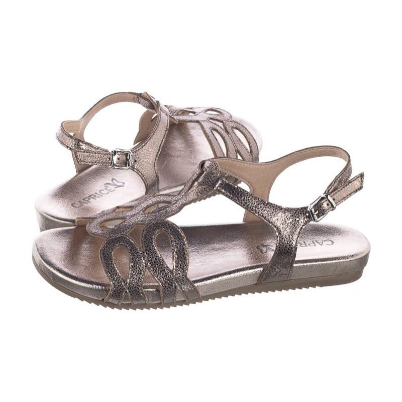 Caprice Złote 9-28102-388 Taupe Glitter (CP147-a) sandalai
