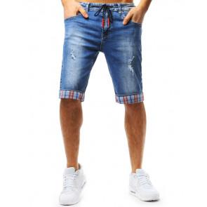 Šortai (Spodenki jeansowe męskie niebieskie SX0717 - Drabuziai rubai internetu