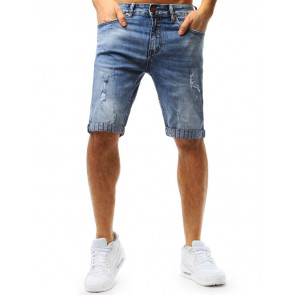 Šortai (Spodenki jeansowe męskie niebieskie SX0718 - Drabuziai rubai internetu