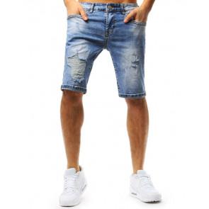 Šortai (Spodenki jeansowe męskie niebieskie SX0721 - Drabuziai rubai internetu