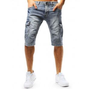 Šortai (Spodenki męskie jeansowe niebieskie SX0725 - Drabuziai rubai internetu