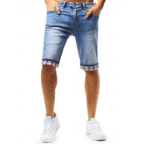 Šortai (Spodenki jeansowe męskie niebieskie SX0728 - Drabuziai rubai internetu