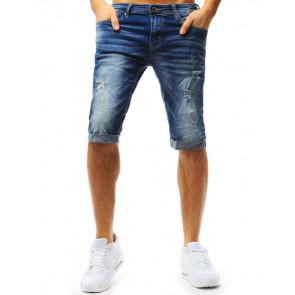 Šortai (Spodenki męskie jeansowe niebieskie SX0730 - Drabuziai rubai internetu