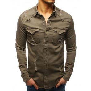 Marškiniai (Koszula męska szara DX1726 - Drabuziai rubai internetu