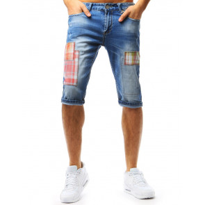 Šortai (Spodenki jeansowe męskie niebieskie SX0756 - Drabuziai rubai internetu