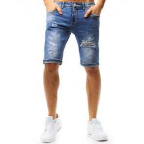Šortai (Spodenki jeansowe męskie niebieskie SX0757 - Drabuziai rubai internetu