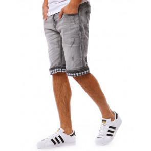 Šortai (Spodenki jeansowe męskie szare SX0800 - Drabuziai rubai internetu