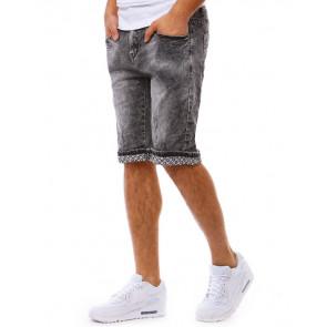 Šortai (Spodenki jeansowe męskie czarne SX0813 - Drabuziai rubai internetu