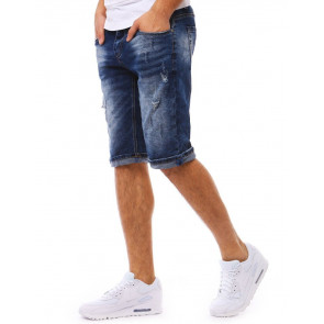 Šortai (Spodenki jeansowe męskie granatowe SX0777 - Drabuziai rubai internetu