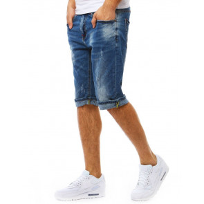 Šortai (Spodenki jeansowe męskie niebieskie SX0782 - Drabuziai rubai internetu