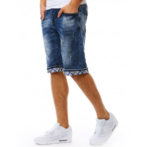 Šortai (Spodenki jeansowe męskie niebieskie SX0802 - Drabuziai rubai internetu