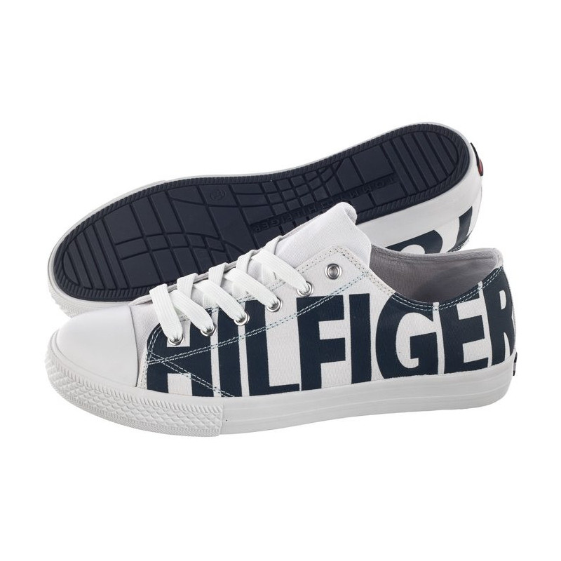 Tommy Hilfiger Low Cut Lace-Up Sneaker T3B4-30274-0618 X008 White/Blue (TH45-a) bateliai