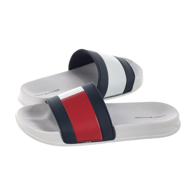 Tommy Hilfiger Pool Slide T3B0-30227-0634 Y003 White/Blue/Red (TH46-a) šlepetės