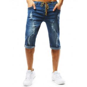 Šortai (Spodenki męskie jeansowe niebieskie SX0760 - Drabuziai rubai internetu