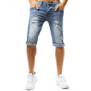 Šortai (Spodenki męskie jeansowe niebieskie SX0761 - Drabuziai rubai internetu