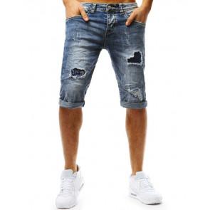 Šortai (Spodenki męskie jeansowe niebieskie SX0762 - Drabuziai rubai internetu