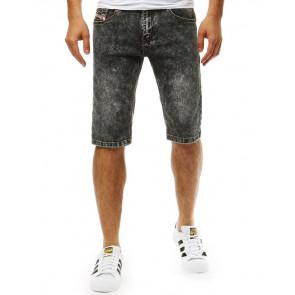 Šortai (Spodenki jeansowe męskie czarne SX0786 - Drabuziai rubai internetu