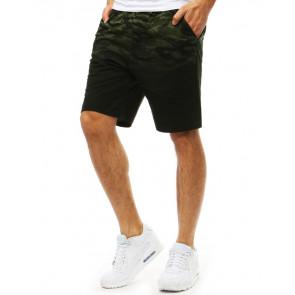 Šortai (Krótkie spodenki dresowe męskie zielone SX0843 - Drabuziai rubai internetu